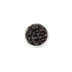 Micro Rings για Extensions με Σιλικόνη Καστανό Σκούρο 100τμχ