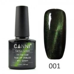 Canni Top Coat Cateye 01 Green 7.3ml