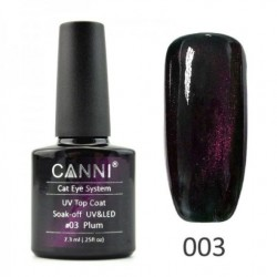 Canni Top Coat Cateye 03 Plum 7.3ml